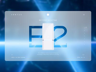 Ventus - E2 white lung medicine health nicotine 3d light website minimal modern figma glass design glassmophism glass ui