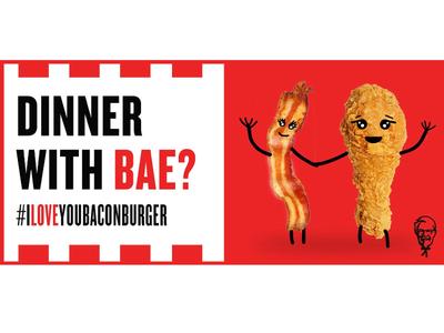 #ILoveYouBaconBurger - KFC