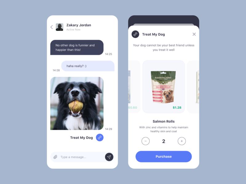 Good Doggie App walking service buy purchase messages walk a dog treat my dog monochromatic mobile app design design mobile app ios ux ui application doggo pet dog good doggie app