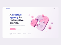 Digital Agency Website uiux brands creative agency after effects digital agency digital animated mp4 gradient pink main page agency motion animation web layout web design design ui ux
