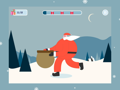 Clumsy Christmas Special, Casual Game winter event christmas eve new year presents funny beard mp4 gif uiux game gamedesign gui animation illustration christmas holidays gifts casualgame santa