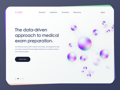 Medical Training Courses online study online teaching exam preparation exams cells molecules data-driven data medicine medical platform minimal illustration graphic design vector layout web design design ux ui