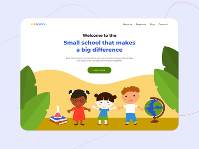 Eleschool — Website for Preschool Education early childhood education kids learn school for kids preschool education children learning