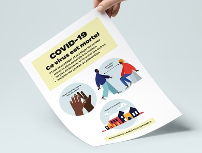 Help for COVID-19 flyer design