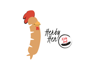 Dishy Dogs - Herby Hen Sausage Character design character design illustration vector sausgages food fmcg branding and identity