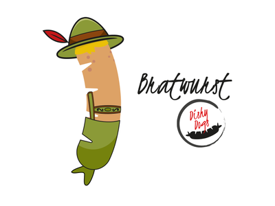 Dishy Dogs - Bratwurst  Sausage Character branding design character design illustration vector sausgages food fmcg branding and identity