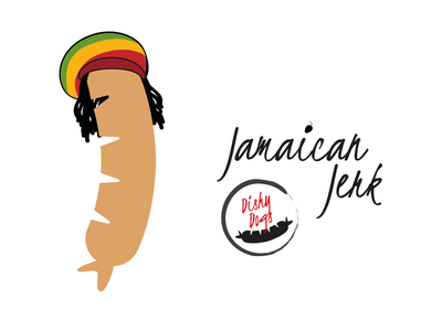 Dishy Dogs - Jamaican Jerk Sausage Character branding design character design illustration vector sausgages food fmcg branding and identity