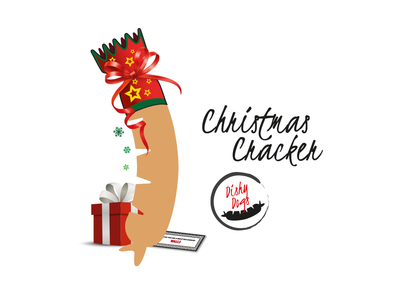Dishy Dogs - Christmas Cracker Sausage Character branding design character design illustration vector sausgages food fmcg branding and identity