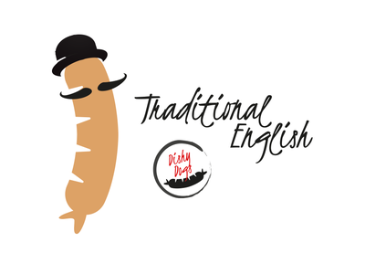 Dishy Dogs - Traditional English Sausage Character branding design character design illustration vector sausgages food fmcg branding and identity