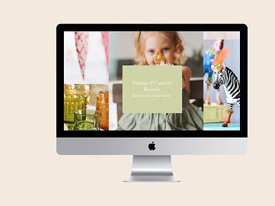 Fanciful Events website web squarespace design design