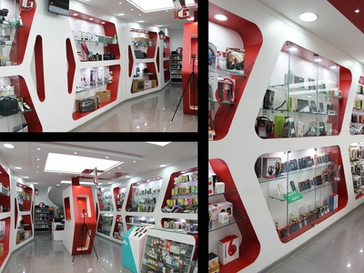 electronics shop interior design