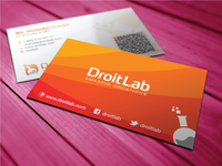 Business Card Design for Droitlab