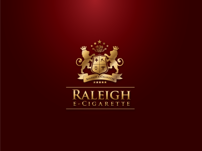 Raleigh E-Cigarette Logo and Brand Identity Design logo logo design creative logo awesome logo e-cigarette royal logo organization