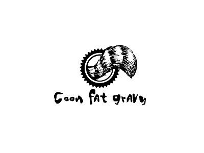 Coon Fat Gravy badgedesign design branding illustration logo typogaphy