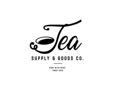 Tea Supply & Goods Co. typogaphy branding logo