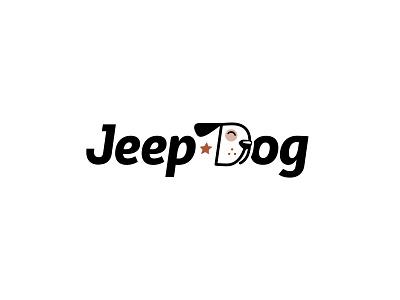 JeepDog dog branding logotype illustration typogaphy