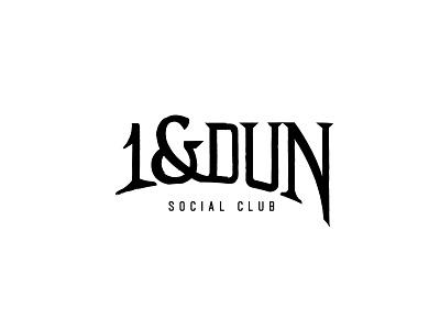1&Dun typogaphy logotype logo