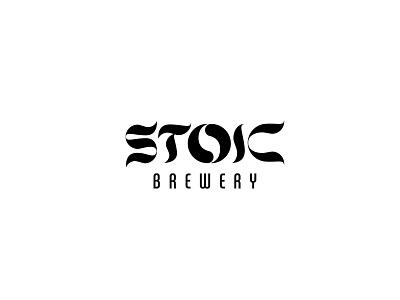 Stoic typography logo