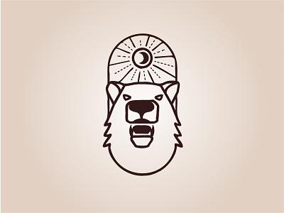 Grizzly Bear badgedesign illustration logo