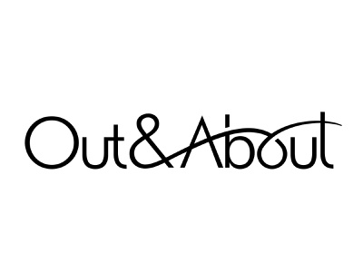 Out & about logotype typogaphy logo