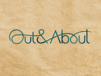 Out & About #2 branding logotype typogaphy logo