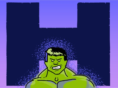 You wouldn't like me when I'm angry hulk vector typogaphy poster illustration