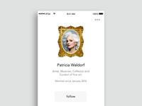 WIP - Patricia's Profile Page