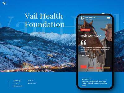 Vail Health Foundatin website web ux ui design