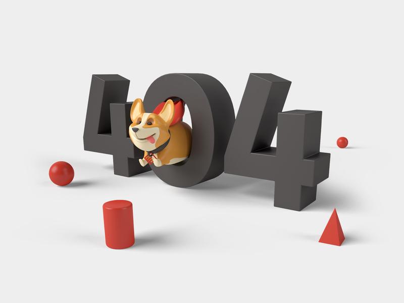 404 superhero jump corgi 3dcharacter 3dsmax 404