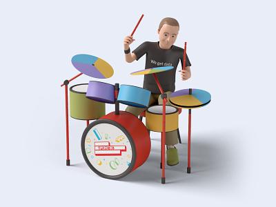 SuperDrums piechart dataviz drummer drums