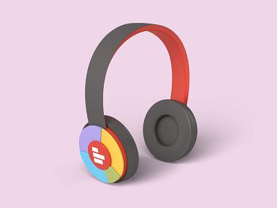 Super Headphones 3dartwork webinar podcast dataviz headphones