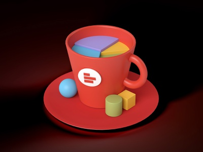 SuperCup dataviz piechart 3dmodeling 3d art cup mug