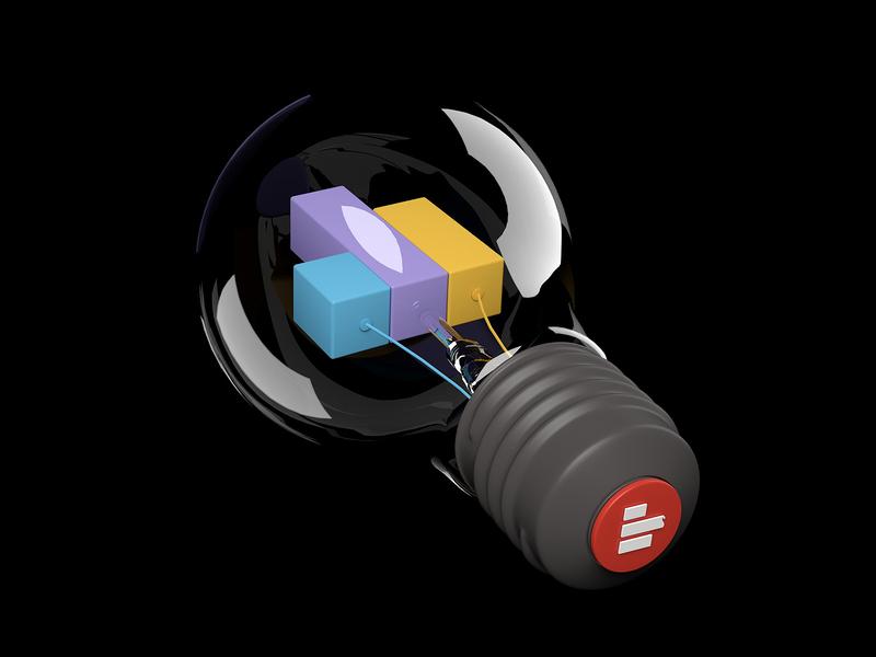 superbulb data connectors dataviz datavisualization piechart bulb