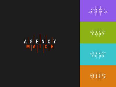 Agency Match logo system match colors logo system