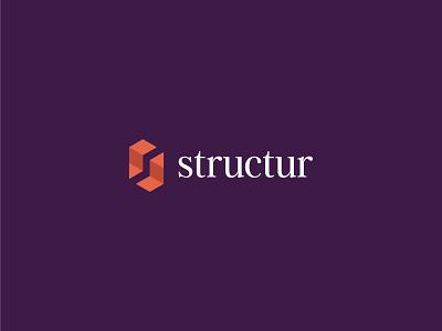 Structur building blocks negative space gem steps success monogram