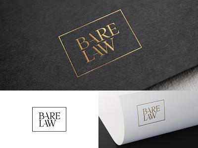 Barelaw ligature serif gold logotype lawyer