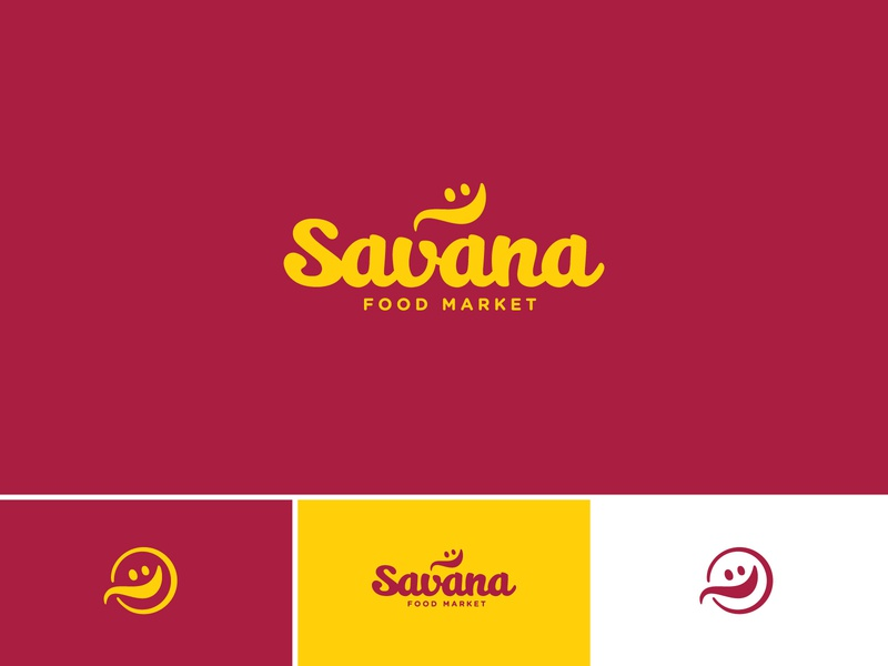 Savana script yellow food smiley spoon