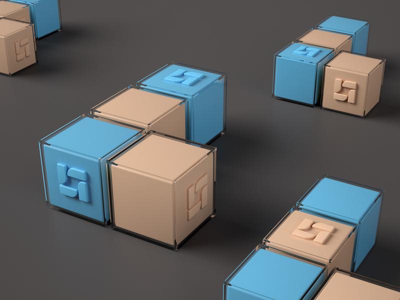Logoholik out of the box 3dillustration 3d art