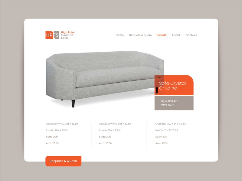 HPFS layout example ecommerce store
