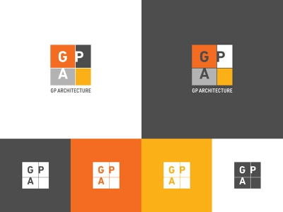 GP multicolor plan architecture monogram