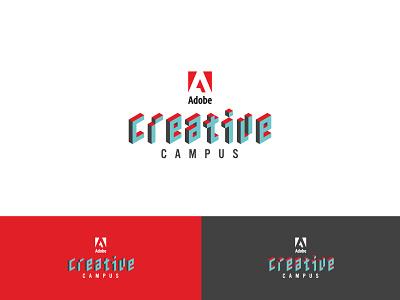 Adobe CC adobe 3d typography logotype