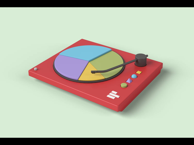 Turntable pie chart 3d motion 3d illustration pie chart turntable