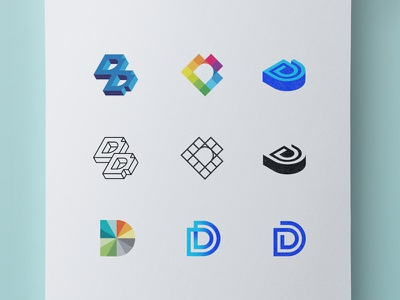 Digital Day Concepts letter icon acronym monogram