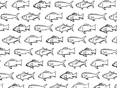 Fish Pattern drawing illustration fishes fisherman nautical ocean fishing offshore mahi tuna snapper grouper fish