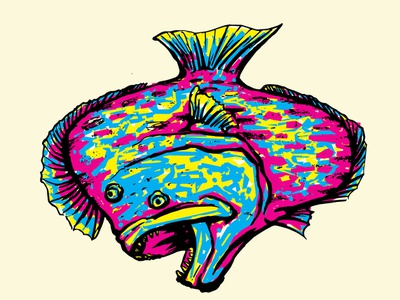 Flounder angler inshore abstract colorful seafood freediving diving vector spearfishing offshore logo design coastal branding fisherman illustration fishes fish fishing flounder