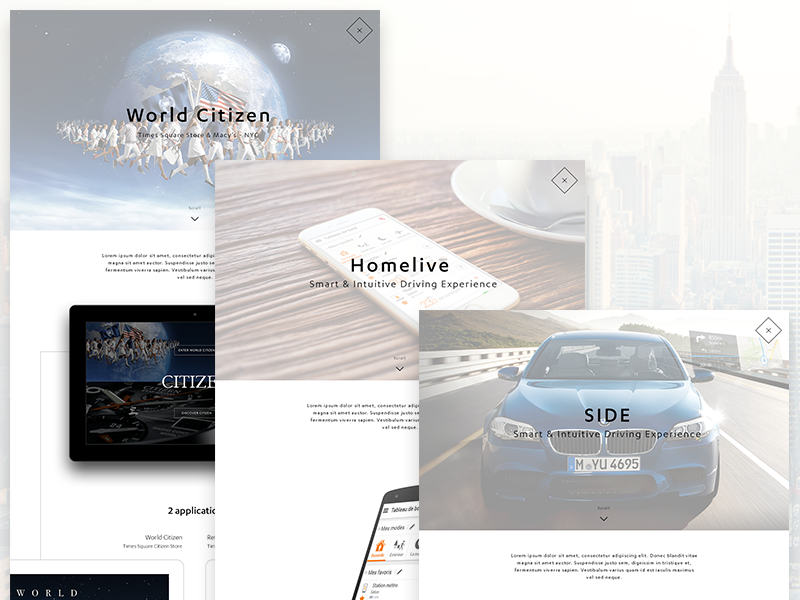 Portfolio css html ajax car resume cv ui ux interface webdesign web portfolio