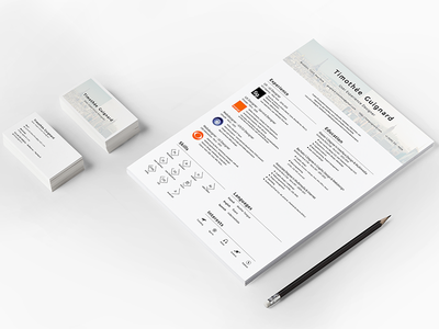 Resume & Business Card experience user ui ux skills languages print web portfolio resume cv