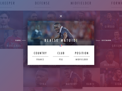 Card Player - Euro 2016 france soccer football euro website webdesign web