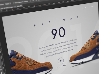 Nike App Concept - WIP Screenshot shoes touch sneakers button app in-store wip store 90 air max air nike