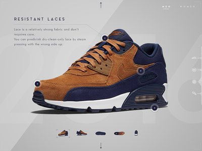 Nike App Concept - Slider Features shoes shoe touch sneakers carousel slider in-store wip 90 air max air nike